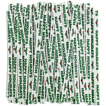 Happy Holiday Twist Ties