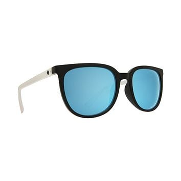 Spy - Fizz Matte Black Matte Crystal Sunglasses / Gray Light Blue Spectra Lenses