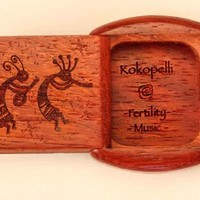 Kokopelli Engraved | Secret Wooden Box | Heartwood Creations