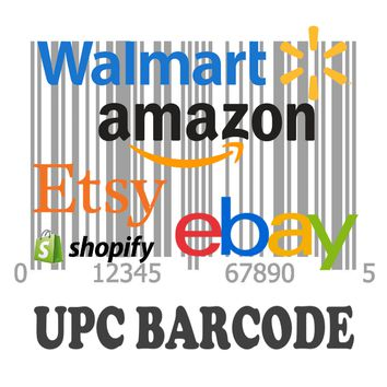 5,000 UPC Code Number For Listing on Amazon Walmart Ebay Etsy Shopify EAN Code