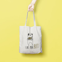 Canvas Tote Bag Funny - Printed Tote Bag - Market Bag - Cotton Tote Bag - Large Canvas Tote - Funny Quote Bag - Dog Tote Bag
