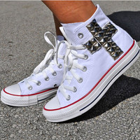 High Help Leisure Cross Rivet Canvas Sneakers Shoes