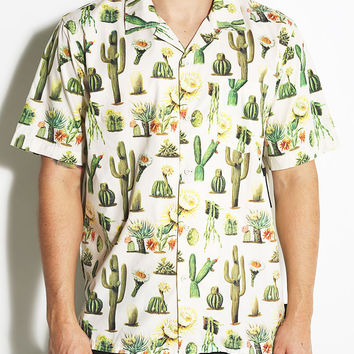Brixton Vern SS Woven Cactus Button Down Short Sleeve Shirt