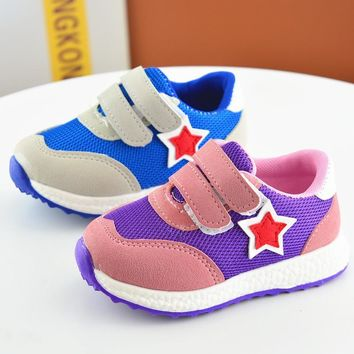 Children sneakers 2017 spring autumn fashion soft toddler girls boys loafers net cloth running non-leather casual shoe kids