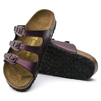 Best Online Sale Birkenstock Florida Birko Flor Raspberry Wine 56953 Sandals