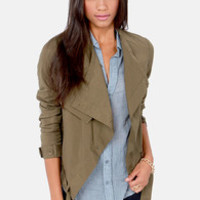 A Taste For Trends Olive Green Jacket