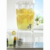 3 Gallon Premium Quality Plastic Beverage Dispenser with Ice Core and Stand