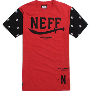 Neff Sultans Cut N Sew T-Shirt - Mens Tee - Red - Extra Large