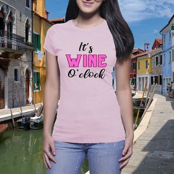 a0e66b9c Wine O'clock, Wine T shirt, Funny Drink Shirt, Wine Lover Shirt