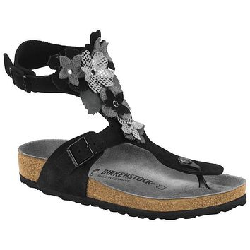 Birkenstock Gizeh High Leather Black 1004978 Sandals