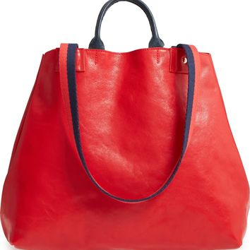 Clare V. Le Big Sac Rustic Leather Tote | Nordstrom