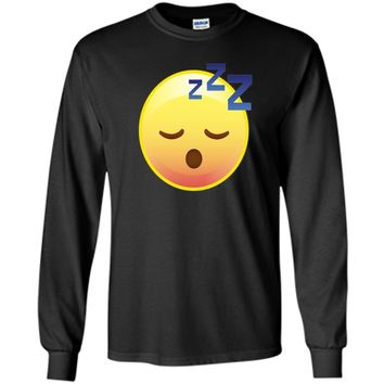 Cute Sleeping Emoji Zzz T-Shirt - Perfect for Pajamas & PJs