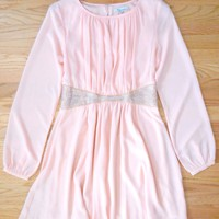Sparkling Peach Party Dress