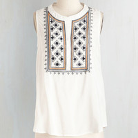 Boho Sleeveless Bonne With the Wind Top by ModCloth