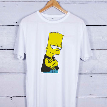 Bart Simpsons Vector Tshirt T-shirt Tees Tee Men Women Unisex Adults