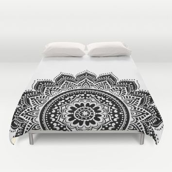 Black and White Mandala Duvet Cover by Haroulita | Society6