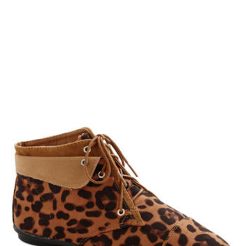 Above the Foldover Bootie in Leopard