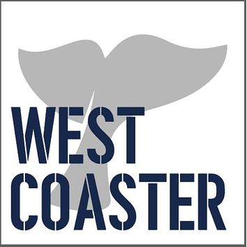 West Coaster Wooden Coaster Set | Whale