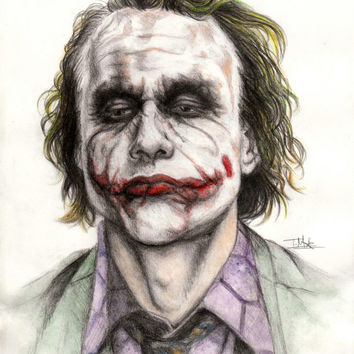 Limited Edition Colour Joker Print A4