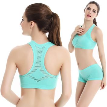 Sports Tracksuit for Women 2 Piece Set Push Up Bra Cropped Top Shorts Set Sportswear Gym Fitness Running Workout Sport Wear Suit