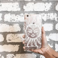 Henna Totemic Sun - Clear TPU Case Cover