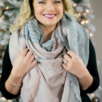 Softly Pink Blanket Scarf