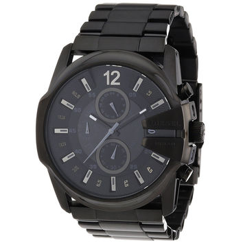 Diesel DZ4180 Men's Master Chief Only The Brave Black Dial Black IP Steel Bracelet Chronograph Watch