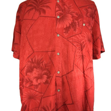 Croft & Barrow Hawaiian Shirt Rayon Floral Tropical Aloha - XL