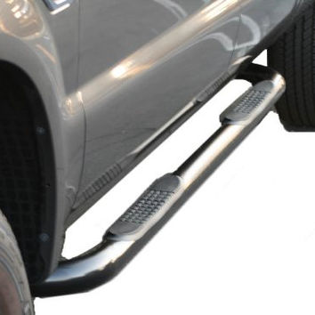 Ford F-350 Super Duty Pickup Ford F-350 Sd Reg Cab Sidebar 3Inch Black Nerf Bars & Tube Side Step Bars Stainless Products Performance 1 Set Rh & Lh