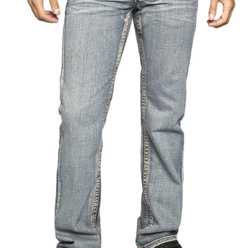 Guys Boot Cut Jeans - Medium Stone Wash