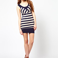 Wal G Stripe Jersey Dress