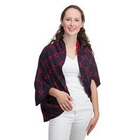 Bowline Shrug in Navy and Red by Top It Off - FINAL SALE