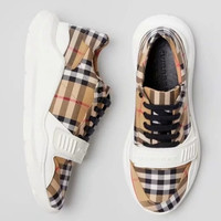 shosouvenir Burberry return to the ancients Lattice Gym shoes