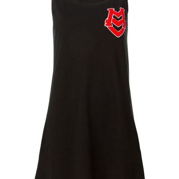 VONEG8Q Love Moschino logo to the chest sleeveless dress