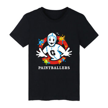 Ghost Busters T shirt Men Funny Ghostbusters Movie tshirts Cotton Men Summer Short Sleeve