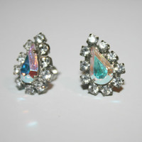 Beautiful Vintage Crystal Post Earrings