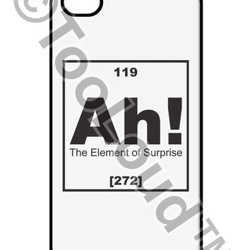 Ah the Element of Surprise Funny Science iPhone 4 / 4S Case  by TooLoud