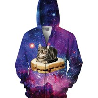 PBJ Space Kitty Zip-Up Hoodie