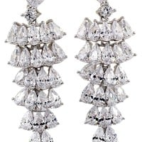 shining swarovski crystal pendant tassel earrings