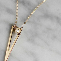 TRIANGLE OUTLINE NECKLACE - Christine Elizabeth Jewelry