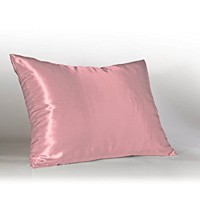 Sweet Dreams Luxury Euro Satin Pillowcase with Zipper, Rose (Silky Satin Pillow Case for Hair) By Shop Bedding