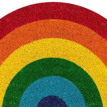 "Novogratz Aloha Collection Rainbow Doormat, 1'6"" x 2'6"", Multicolor"