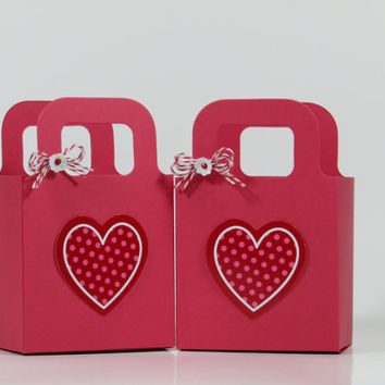 8 Valentine's Day Gift Bag / Box - Treat Party Favors
