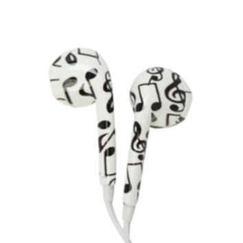 MiCase Music Note Print Earbuds
