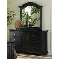 Elements Brook Black Collection Dresser & Mirror