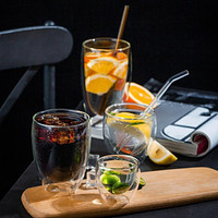 Modern Coffee Cup Made Of Glass Set of 2 Pieces