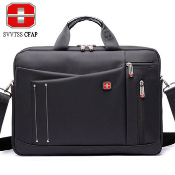 SVVTSSCFAP Business men bag luxury handbags women bags designer nylon men shoulder briefcase messenger bag women 15 inch laptop