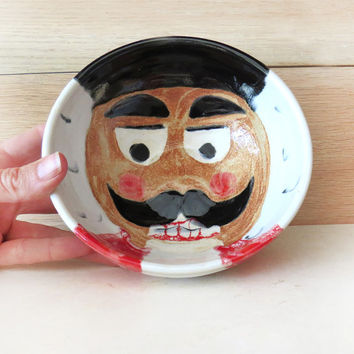 Nutcracker Soldier Bowl. Christmas Bowl. Pottery Bowl. Ceramic Bowl. Cereal Bowl