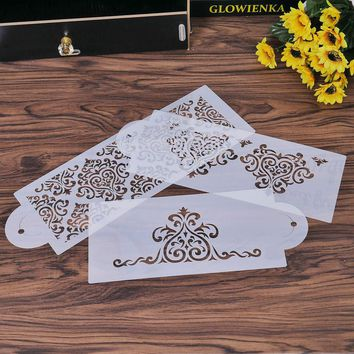 3PC/set Plastic Heart Crown Lace Flower Reusable Stencil Airbrush Painting Art DIY Home Decor Scrap booking Album Crafts
