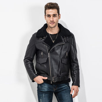 Best Men's Shearling Leather Jacket Products on Wanelo